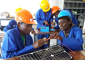 Trainees in our 2015 solar installation course, Ondangwa.