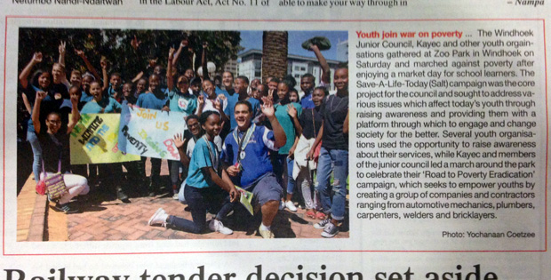 From page 3 of The Namibian, 14 March.